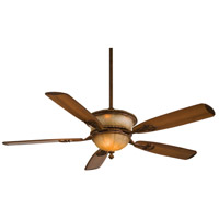 Minka-Aire Santa Lucia 60 inch Illuminati Bronze with Dark Walnut Blades Ceiling Fan in Silver Patina F820-IBR - Open Box