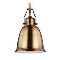 Feiss R-P1357AGB Hobson 1 Light 8 inch Aged Brass Mini-Pendant Ceiling Light P1357AGB - Open Box