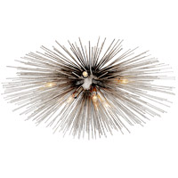 Visual Comfort Kelly Wearstler Strada 10 Light 28 inch Burnished Silver Leaf Flush Mount Ceiling Light, Kelly Wearstler, Medium KW4070BSL - Open Box