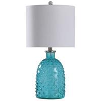 StyleCraft Home Collection R-L10161BDS Signature 24 inch 100 watt Bright Blue Table Lamp Portable Light L10161BDS - Open Box