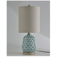 StyleCraft Home Collection R-L10173ADS Signature 23 inch 100 watt Blue Table Lamp Portable Light L10173ADS - Open Box