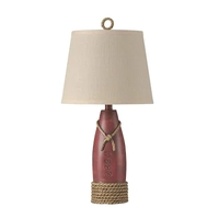 StyleCraft Home Collection R-L22489ADS Signature 26 inch 100 watt Nantucket Red Table Lamp Portable Light L22489ADS - Open Box