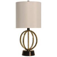 StyleCraft Home Collection R-L25900DS Signature 19 inch 60 watt Gold and Satin Black Table Lamp Portable Light L25900DS - Open Box