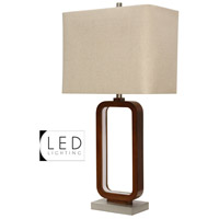 StyleCraft Home Collection R-L313387DS Signature 34 inch 100 watt Rust Table Lamp Portable Light L313387DS - Open Box
