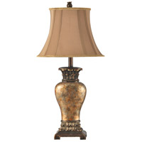 StyleCraft Home Collection Signature 30 inch 100 watt Brown and Bronze Table Lamp Portable Light L31354ADS - Open Box