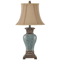 StyleCraft Home Collection R-L31354BDS Signature 30 inch 100 watt Blue and Brown Table Lamp Portable Light L31354BDS - Open Box