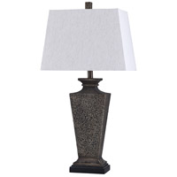 StyleCraft Home Collection Signature 31 inch 100 watt Bossier Bronze and White Table Lamp Portable Light L315798DS - Open Box