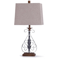 StyleCraft Home Collection R-L318704DS Bakewell 13 inch 60 watt Oil Rubbed Bronze and Wood Table Lamp Portable Light L318704DS - Open Box