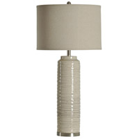 StyleCraft Home Collection Signature 39 inch 150 watt Off-White Table Lamp Portable Light L35755DS - Open Box