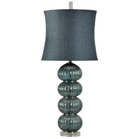 StyleCraft Home Collection R-L39747DS Signature 36 inch 150 watt Dark Blue Table Lamp Portable Light L39747DS - Open Box