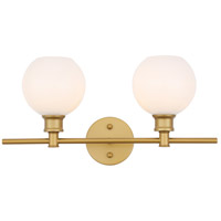 Living District R-LD2315BR Collier 2 Light 19 inch Brass Wall sconce Wall Light LD2315BR - Open Box