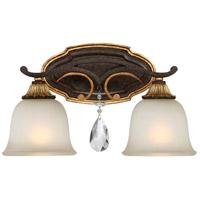 Metropolitan R-N1462-652 Chateau Nobles 2 Light 16 inch Raven Bronze/Sunburst Gold Bath-Bar Lite Wall Light N1462-652 - Open Box