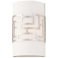 George Kovacs Alecias Necklace 1 Light 7 inch Brushed Nickel ADA Wall Sconce Wall Light P195-084 - Open Box