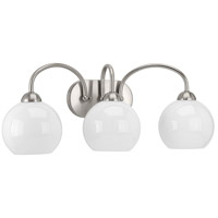 Progress R-P300086-009 Carisa 3 Light 25 inch Brushed Nickel Bath Vanity Wall Light P300086-009 - Open Box