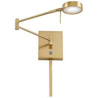 George Kovacs R-P4308-248 Georges Reading Room 5 inch 8 watt Honey Gold Pharmacy Swing Arm Wall Lamp Wall Light P4308-248 - Open Box