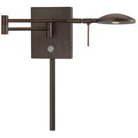 George Kovacs R-P4338-647 Georges Reading Room 4 inch 8 watt Copper Bronze Patina Swing Arm Wall Lamp Wall Light P4338-647 - Open Box
