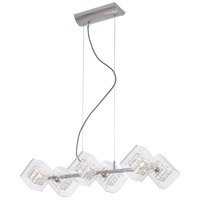 George Kovacs Jewel Box 6 Light 30 inch Chrome Island Light Ceiling Light P803-077 - Open Box