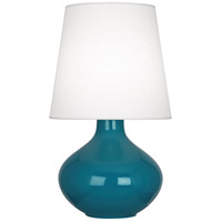 Robert Abbey June 31 inch 150 watt Peacock Table Lamp Portable Light in Oyster Linen PC993 - Open Box