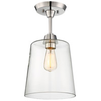 Light Visions R-PL0077PN Modern Contemporary 1 Light 1 inch Polished Nickel Semi Flush Ceiling Light PL0077PN - Open Box