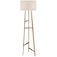 Visual Comfort Studio Vail 1 Light Floor Lamp in Gilded Iron with Natural Paper Shade S1052GI-NP - Open Box