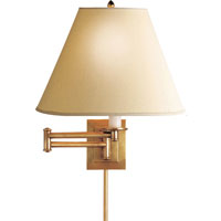 Visual Comfort Studio Primitive Swing Arm in Hand-Rubbed Antique Brass with Linen Shade S2500HAB-L - Open Box