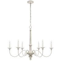 Visual Comfort Studio Country 6 Light Chandelier in Belgian White  S5211BW - Open Box