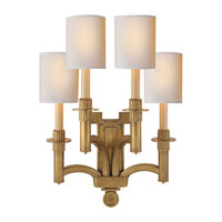 Visual Comfort Studio Eric Cohler Troy Four-Light Sconce in Hand-Rubbed Antique Brass with Natural Paper Shades SC2166HAB-NP - Open Box