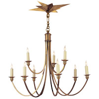 Visual Comfort Eric Cohler Venetian 9 Light 28 inch Hand-Rubbed Antique Brass Chandelier Ceiling Light SC5002HAB - Open Box