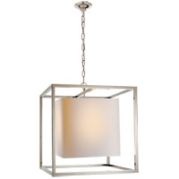 Visual Comfort Studio Eric Cohler Medium Caged Lantern in Polished Nickel with Natural Paper Shade SC5160PN - Open Box
