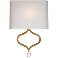 Visual Comfort Suzanne Kasler Heart 13 inch Gilded Iron Sconce Wall Light, Suzanne Kasler, Natural Percale Shade SK2258GI-PL - Open Box