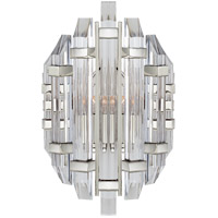 Visual Comfort R-SK2400PN-CA Suzanne Kasler Adele 2 Light 11 inch Polished Nickel Sconce Wall Light Suzanne Kasler Crystal Clear Acrylic Shade