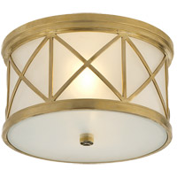 Visual Comfort Suzanne Kasler Montpelier 2 Light 11 inch Hand-Rubbed Antique Brass Flush Mount Ceiling Light SK4010HAB-FG - Open Box