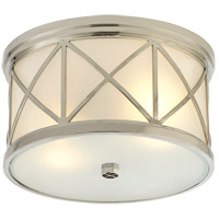 Visual Comfort Suzanne Kasler Montpelier 2 Light 11 inch Polished Nickel Flush Mount Ceiling Light SK4010PN-FG - Open Box