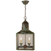 Visual Comfort Suzanne Kasler Brantley Lantern in Verdigris with Clear Glass SK5007VG - Open Box
