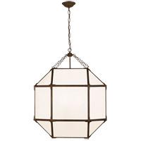Visual Comfort Suzanne Kasler Morris 3 Light 23 inch Antique Zinc Lantern Pendant Ceiling Light, Large SK5010AZ-WG - Open Box
