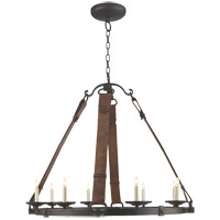 Visual Comfort Suzanne Kasler Dressage 8 Light 37 inch Aged Iron with Wax Chandelier Ceiling Light SK5019AI - Open Box