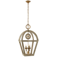 Visual Comfort Suzanne Kasler Nina 3 Light 19 inch Belgian Gild Foyer Lantern Ceiling Light, Suzanne Kasler, Wooden SK5513BG - Open Box