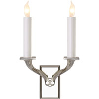 E.F. Chapman Haberdashers 2 Light 8 inch Polished Nickel Decorative Wall Light