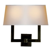 Visual Comfort E. F. Chapman Square Tube 2 Light 16 inch Bronze Decorative Wall Light in Long Natural Paper SL2820BZ-NP2 - Open Box