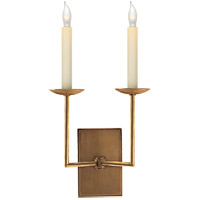 Visual Comfort E. F. Chapman Right Angle 2 Light 10 inch Hand-Rubbed Antique Brass Decorative Wall Light SL2866HAB - Open Box