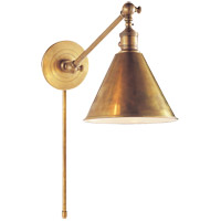 Visual Comfort E.F. Chapman Boston 1 Light Task Wall Light in Hand-Rubbed Antique Brass SL2922HAB - Open Box