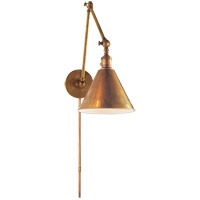 Visual Comfort Studio Sandy Chapman Double Boston Functional Library Light in Hand-Rubbed Antique Brass SL2923HAB - Open Box
