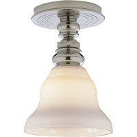 Visual Comfort E.F. Chapman Boston 1 Light Flush Mount in Polished Nickel SL5001PN/SLEG-WG - Open Box