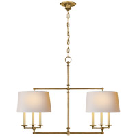 Visual Comfort E. F. Chapman Classic 6 Light 42 inch Hand-Rubbed Antique Brass Linear Pendant Ceiling Light SL5816HAB-NP - Open Box