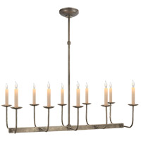 Visual Comfort E. F. Chapman Linear Branched 10 Light 36 inch Antique Nickel Linear Pendant Ceiling Light in (None) SL5863AN - Open Box