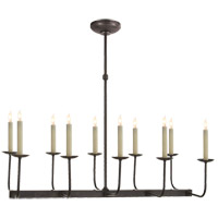 Visual Comfort E.F. Chapman Branched 10 Light Linear Pendant in Bronze SL5863BZ - Open Box