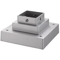 Z-Lite R-SQPM-SL Signature 7 inch Silver Outdoor Pier Mount SQPM-SL - Open Box