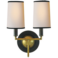 Visual Comfort Thomas OBrien Elkins 2 Light 10 inch Bronze with Antique Brass Accents Decorative Wall Light TOB2068BZ/HAB-NP/BT - Open Box