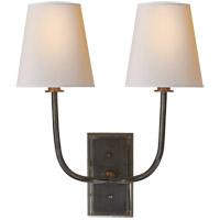 Visual Comfort R-TOB2191BZ-NP Thomas OBrien Hulton 2 Light 14 inch Bronze Decorative Wall Light TOB2191BZ-NP - Open Box