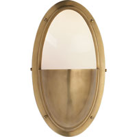 Visual Comfort Thomas OBrien Pelham Moon 1 Light Bath Wall Light in Hand-Rubbed Antique Brass TOB2209HAB-WG - Open Box